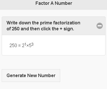 Factor Numbers Mobile
